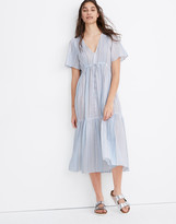 Madewell Tiered Cover-Up Midi Dress