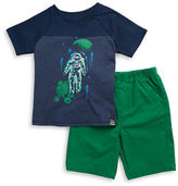 Charlie Rocket Baby Boys Two-Piece Astronaut Tee and Shorts Set