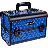 SHANY Premier Fantasy Collection Makeup Artists Cosmetics Train Case - Divine Blue