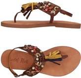 Coral Blue Toe strap sandals - Item 11385828