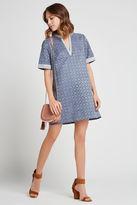 BCBGeneration Laser-Cut Faux-Suede A-Line Dress - Vintage