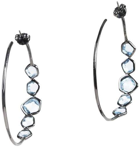 Ippolita Sterling Silver with Blue Topaz and Diamond Earring