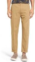 Vince Men's Relaxed Leg Cropped Cotton & Linen Pants