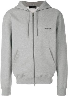 Balenciaga logo printed cardigan hoodie