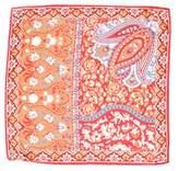 Etro Paisley Print Silk Pocket Square