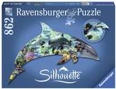 Ravensburger 862-pc. Dolphin World Silhouette Shaped Puzzle