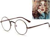 Scorpiuse Aviator Glasses Clear Lens Retro Metal Frame Eyeglasses (, Clear)