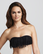 L Space Swimwear by Monica Wise Fringe Bandeau Bikini Top