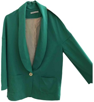 La Petite Francaise Green Cotton Jacket for Women