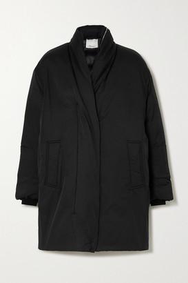 3.1 Phillip Lim Hooded Oversized Padded Cotton-blend Shell Coat - Black
