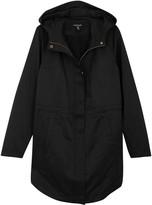 Eileen Fisher Black Hooded Cotton Blend Jacket