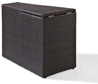 Michal Wicker Side Table Highland Dunes Color: Brown