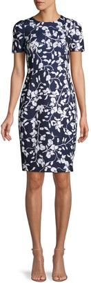 Calvin Klein Floral Short-Sleeve Dress