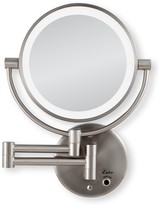 Zadro Cordless LED Wall-Mount Mirror 1X/5X, Satin Nickel