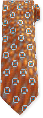 Canali Men's Circular Diamond Silk Tie