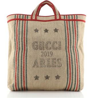 Gucci Juta Arles Tote Printed Jute