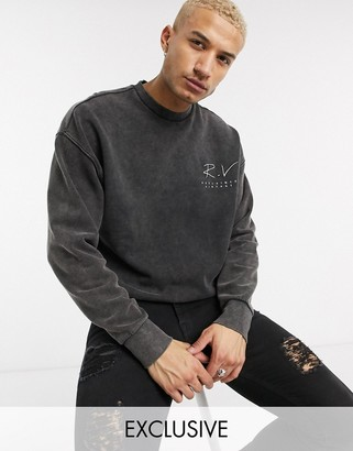 Reclaimed Vintage inspired washed sweatshirt with logo