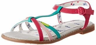 Pepe Jeans Girls ELSA Graphic T-Bar Sandals