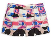 Milly Minis Girl's Modern Print Pleated Shorts