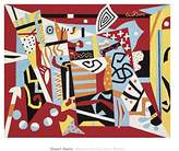 """McGaw Graphics Hot Still-Scape for Six Colors - 7th Avenue Style, 1940 by Stuart Davis 20""""x25"""" Art Print Poster"""