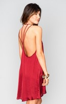 MUMU Martini Dress ~ Ruby Silky Satin