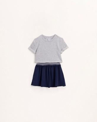 Splendid Toddler Girl Mix Knit Woven Dress