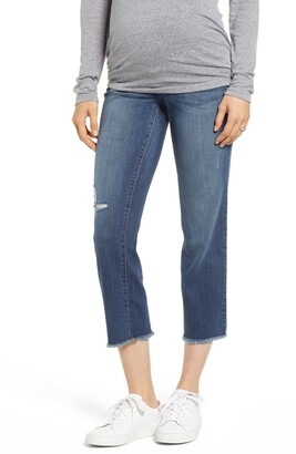 1822 Denim Cassie Crop Straight Leg Maternity Jeans