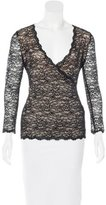 Antonio Berardi Lace Surplice Top
