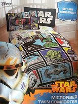 "Disney Star Wars Classic Character Grid 64"" x 86"" Twin Reversible Comforter."
