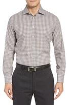 Luciano Barbera Men's Check Sport Shirt