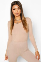 boohoo Scoop Neck Knitted one piece
