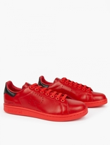 Adidas By Raf Simons Red Stan Smith Sneakers