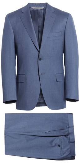 Canali Classic Fit Pinstripe Wool Suit