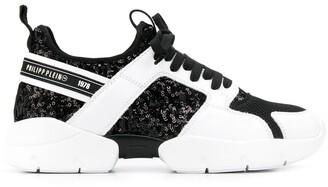Philipp Plein Sequin Panel Sneakers