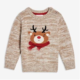 Joe Fresh Baby Boys' Animal Face Sweater, Charcoal Mix (Size 18-24)