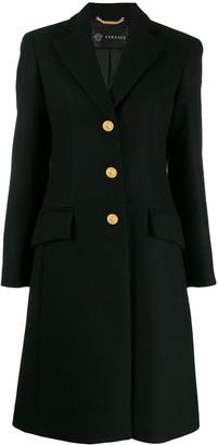 Versace single-breasted wool coat