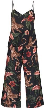 Desmond & Dempsey Soleia leopard-print pyjama set