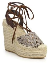 Ash Tessa Bis Lace-Up Espadrille Wedge Sandals