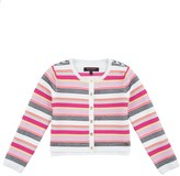 Juicy Couture Girls Soft Texture Stripe Cardigan