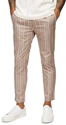 Topman Topshop Whyatt Slim Fit Stripe Trousers