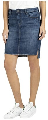 KUT from the Kloth Connie High-Low Skirt Fray Hem (Affectionate) Women's Skirt