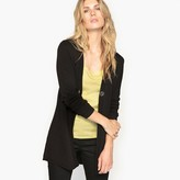 Anne Weyburn Long Cardigan with Knitted Back Detail