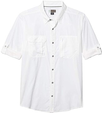Exofficio BugsAway(r) Halo Long Sleeve (White) Men's Clothing