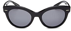 Oliver Peoples Women's Georgica Polarized Cat Eye Sunglasses, 53mm