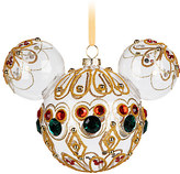 Disney Mickey Mouse Icon Glass Ornament - Bejeweled