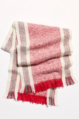 Free People Brushed Racer Stripe Blanket Scarf