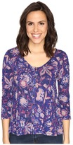 Lucky Brand Floral Swing Top Women's Clothing