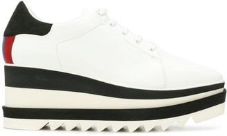 Stella McCartney Elyse striped platform sole sneakers