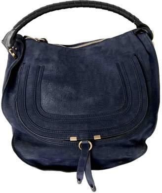 Chloé Marcie Navy Suede Handbags