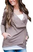 Lettre d'amour Women's Elegant Zipper Open Side Jackets With Pockets M